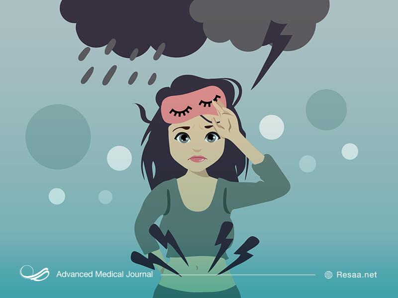 حس افسردگی یا خشم در دوران پیش از قاعدگی از نشانههای pms است.