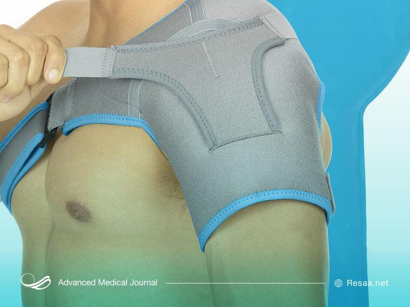 استفاده از بازوبند برای کاهش درد بازو به شما کمک میکند.