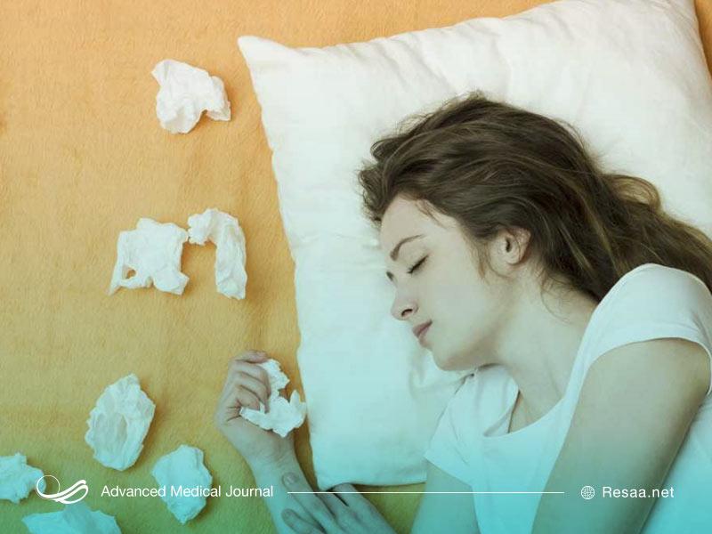 آبریزش بینی و خواب الودگی
