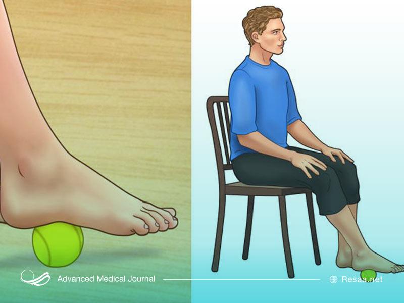 تمرین برای رفع صافی کف پا